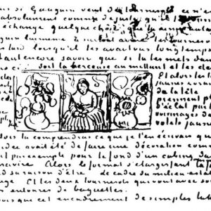 Vincent van Gogh, Sketch in Letter to Theo van Gogh, 22 May 1889