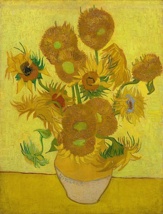 Vincent van Gogh, Sunflowers, 1889 (Copy of Forth Version)