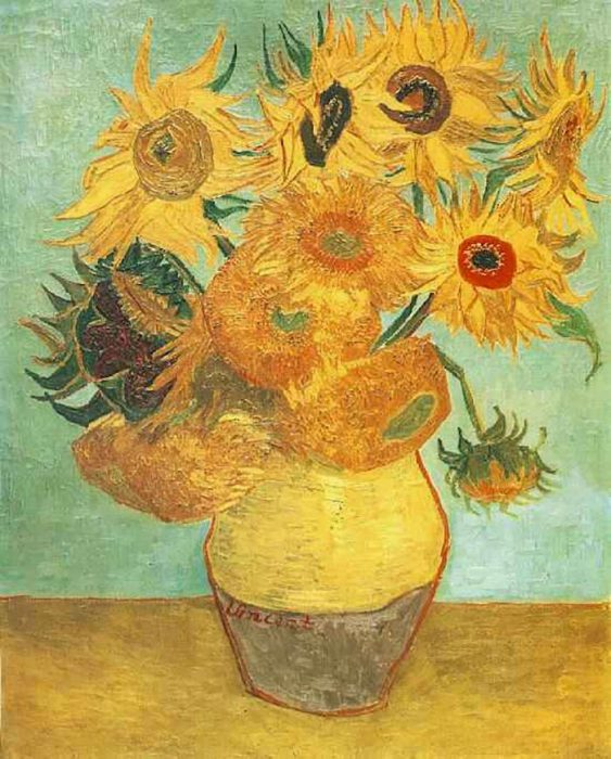 Vincent van Gogh, Sunflowers, 1889 (Copy of Third Version)