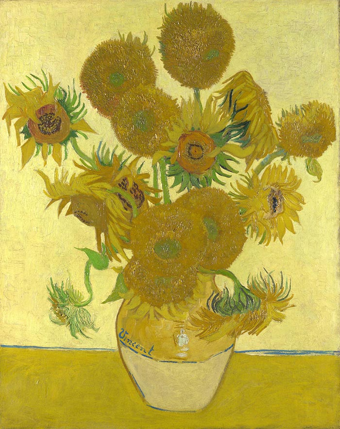 Vincent van Gogh, Still Life: Vase with Fifteen Sunflowers, 1888 (Forth Version)
