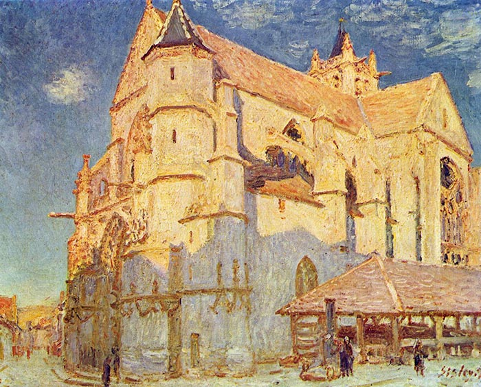 Alfred Sisley, Church in Moret, 1889