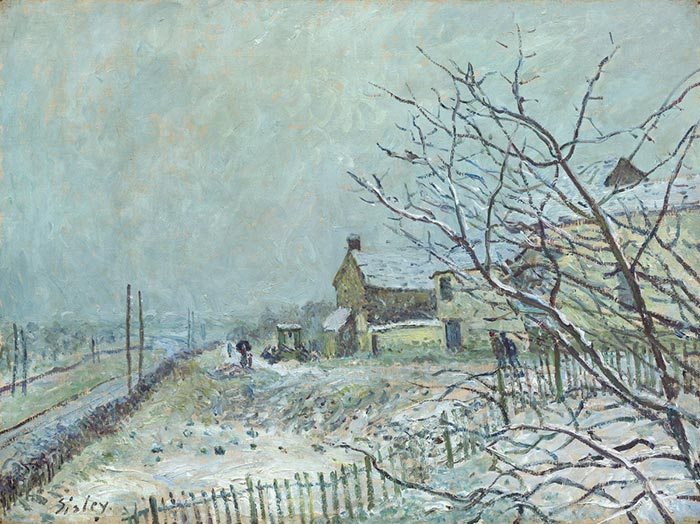 Alfred Sisley, First Snow in Vienna-Nadon, 1878