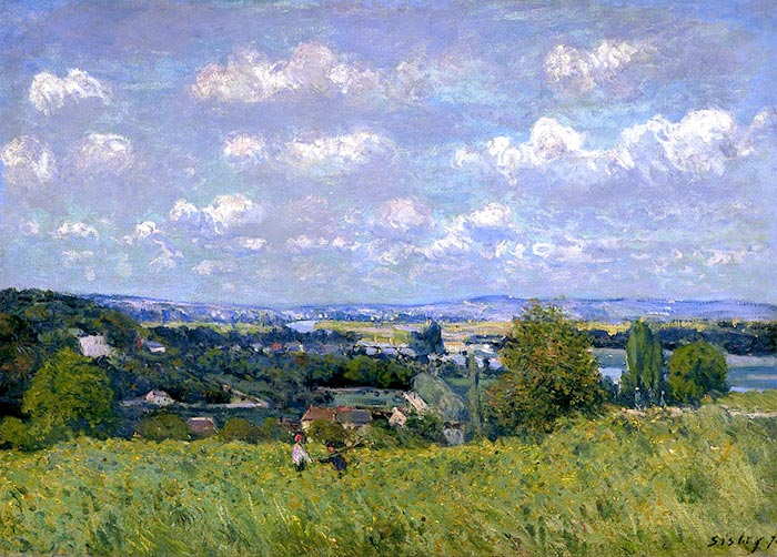 Alfred Sisley, Landscape on the Banks of the Seine, 1875