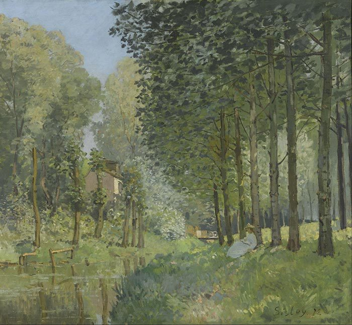 Alfred Sisley, Rest Along the Stream, 1878