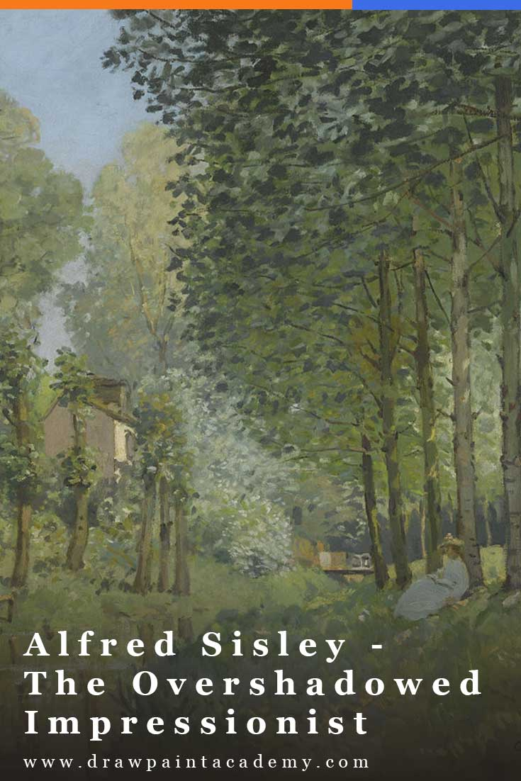 Despite being one of the figurehead Impressionists, Alfred Sisley is often overshadowed by the more famous Claude Monet and Pierre-Auguste Renoir. In light of this, I wrote this post to take a closer look at his life and art. #drawpaintacademy