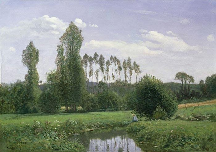 Claude Monet, View at Rouelles, Le Havre, 1858