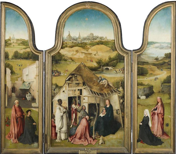 Hieronymus Bosch, The Adoration of the Magi. Triptych, 1494