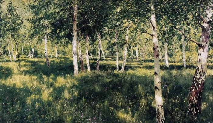 Isaac Levitan, Birch Grove, 1889