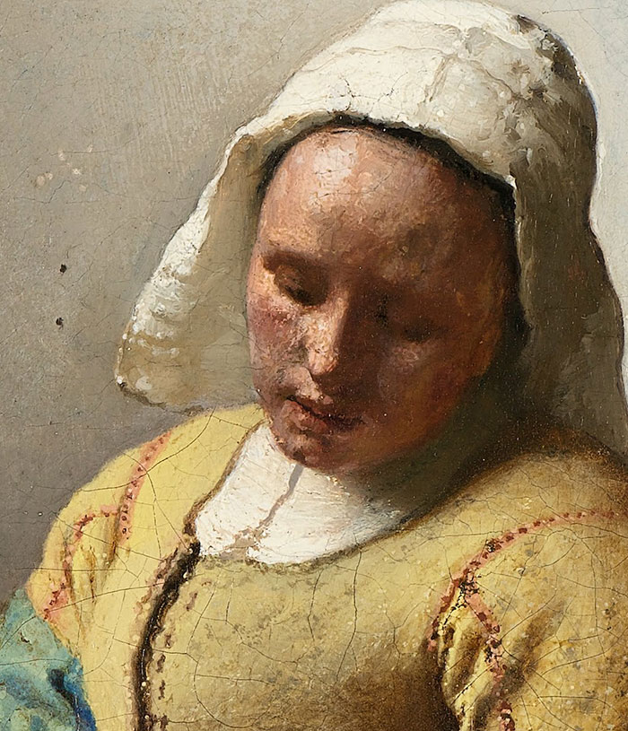 Johannes Vermeer, The Milkmaid - Close-Up 1