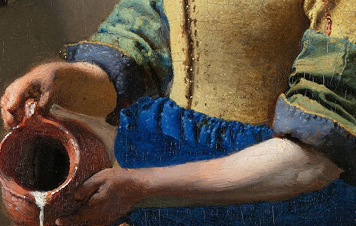 Johannes Vermeer, The Milkmaid - Close-Up 2