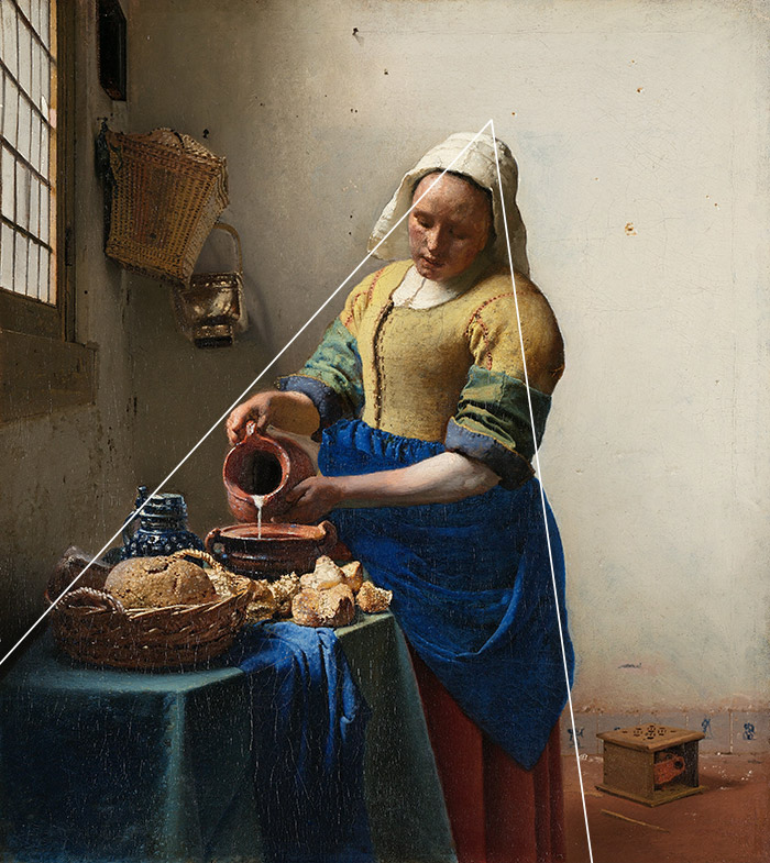 Johannes Vermeer, The Milkmaid (Date Unknown) - Triangle