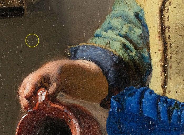 Johannes Vermeer, The Milkmaid - Pinhole