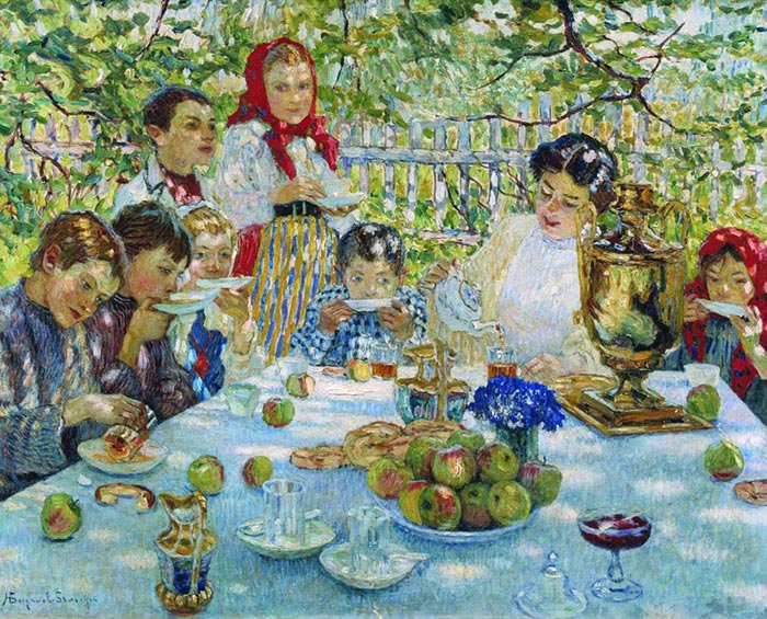 Nikolay Petrovich Bogdanov-Belsky, Birthday Teacher, 1920
