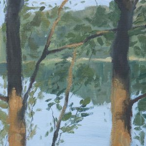 Secrets on the Lake, Study, On Location, Oil, 8x10 Inch, 700Web Medium