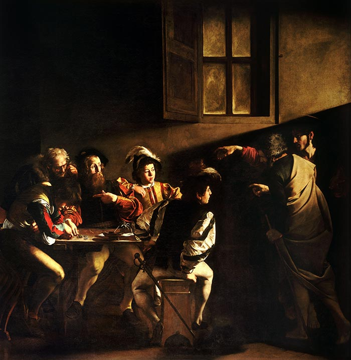 Caravaggio, The Calling of St. Matthew, 1599-1600
