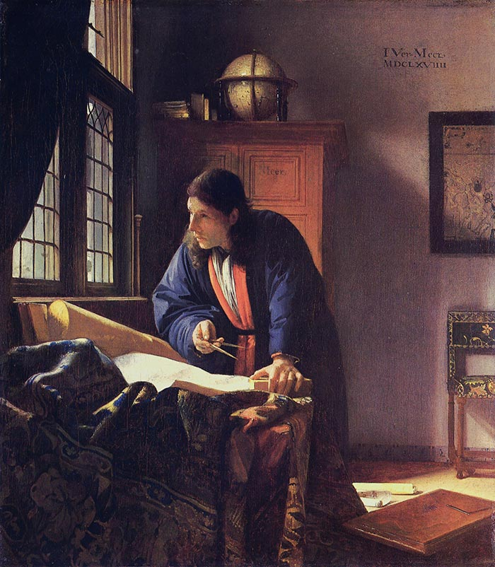 Johannes Vermeer, The Geographer, circa 1668-1669