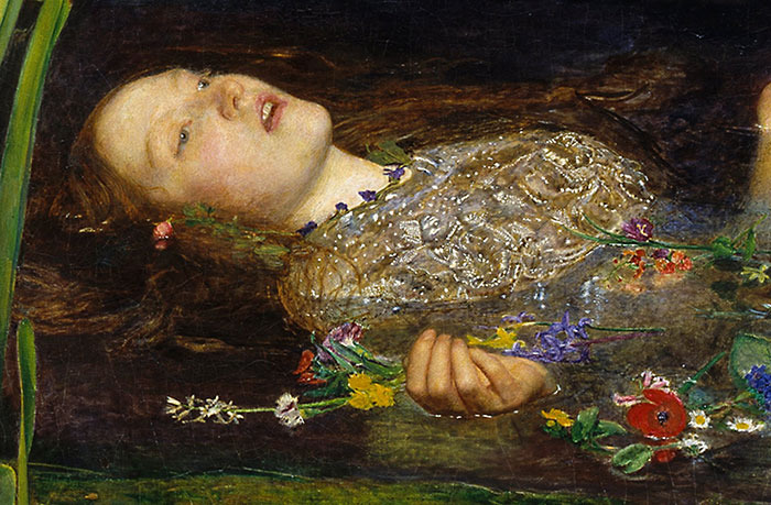 John Everett Millais, Ophelia (Close-Up 3)
