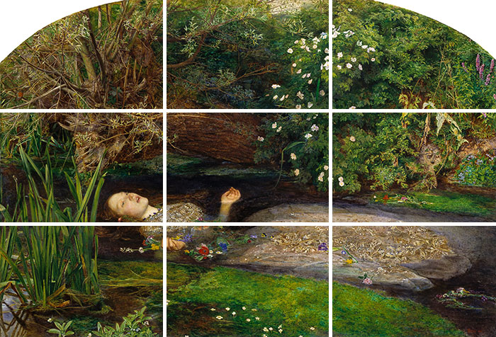 John Everett Millais, Ophelia (Thirds)