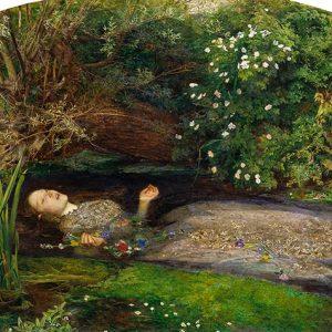 John Everett Millais, Ophelia, c.1851