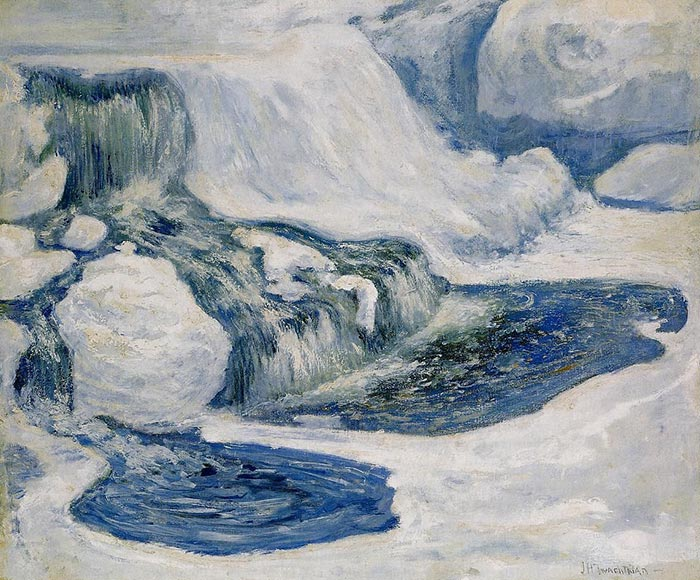 John Henry Twachtman, Waterfall in January, 1895