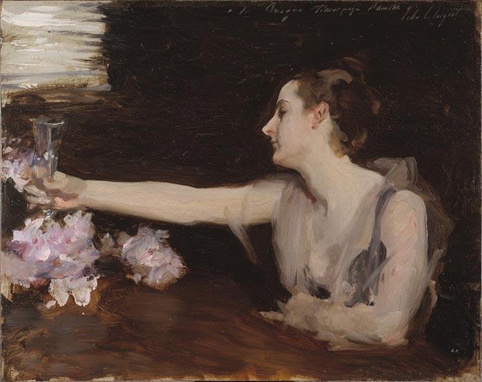 John Singer Sargent, Study of Madame Gautreau Drinking a Toast, 1882-1883