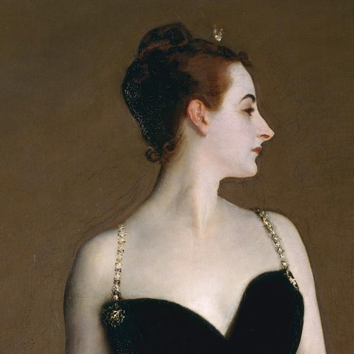 John Singer Sargent, Portrait of Madame X, 1884 (Close-Up 1)