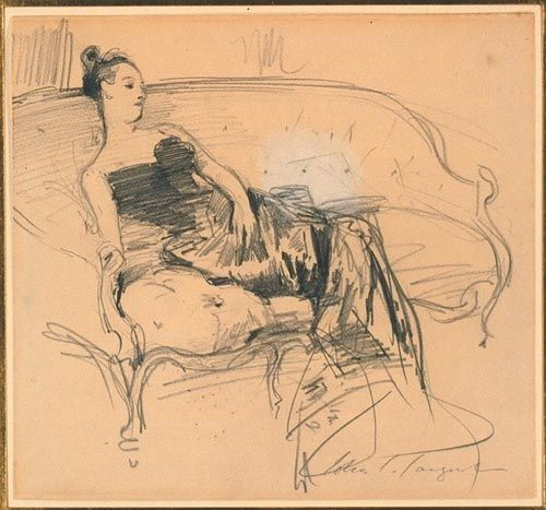 John Singer Sargent, Study of Madame X on Couch