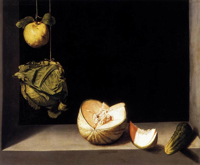 Juan Sánchez Cotán, Quince, Cabbage, Melon and Cucumber, 1602