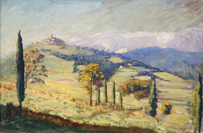 Sir Winston Churchill, A Distant View of Eze, 1930