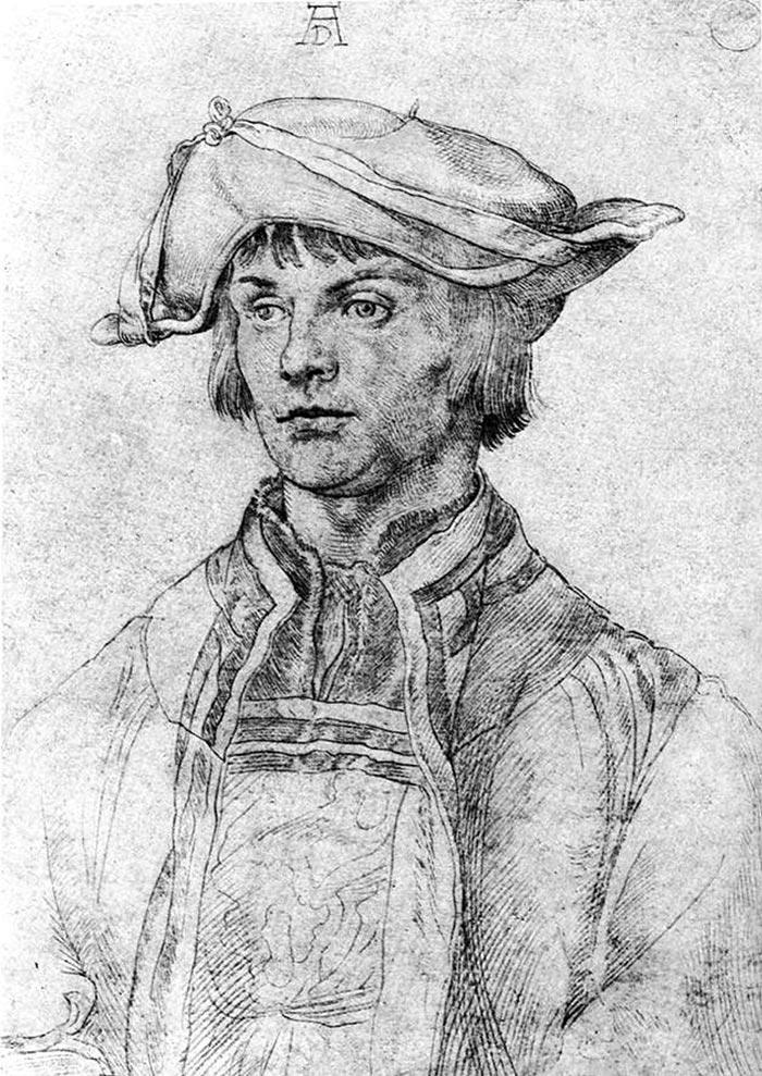 Albrecht Durer, Portrait of the Artist Lucas Van Leyden, 1512