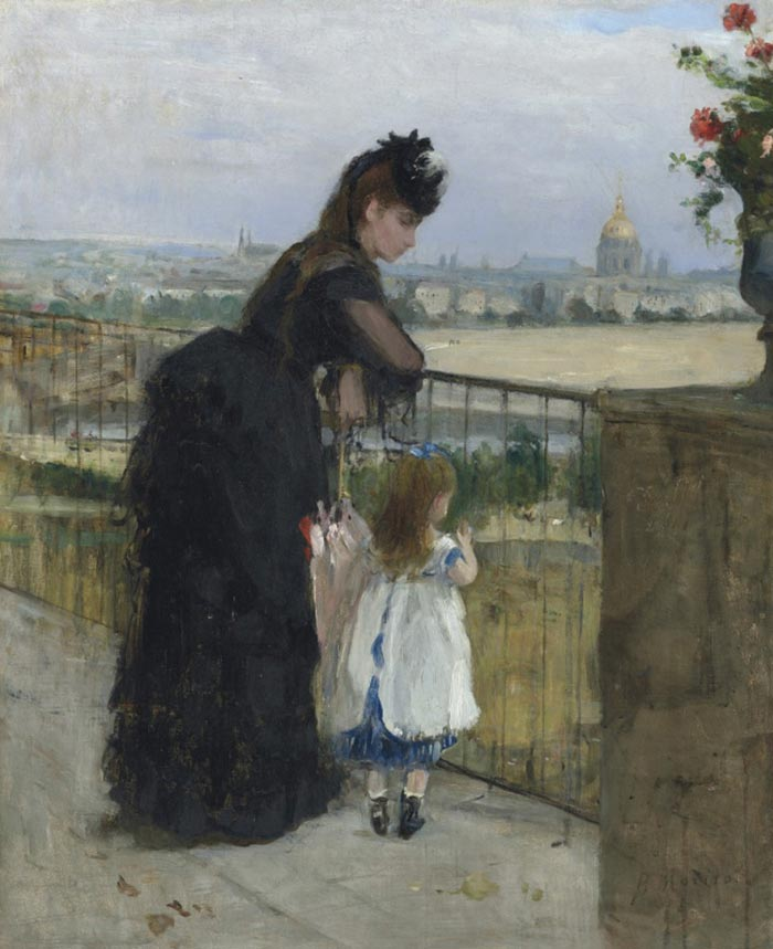 Berthe Morisot, A Woman with a Baby on the Balcony, 1872