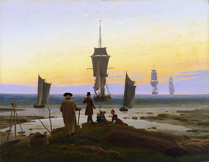 Caspar David Friedrich, the Life Stages (Beach Picture, Beach Scene in Wiek), C.1834