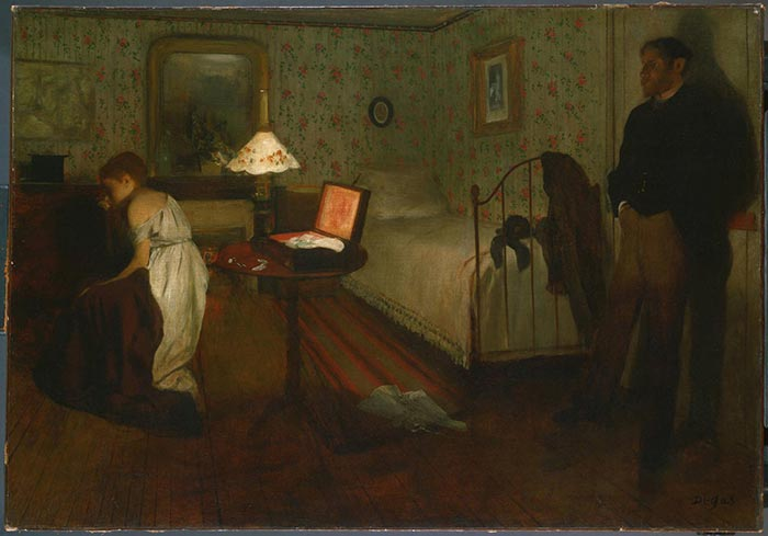 Edgar Degas, Interior, 1868-1869