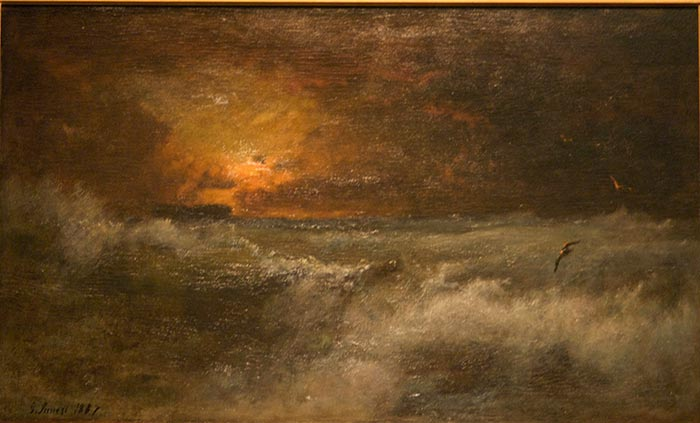 George Inness, Sunset over the Sea, 1887