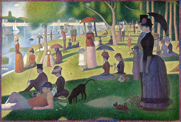 Georges Seurat, Sunday Afternoon on the Island of La Grande Jatte, 1884