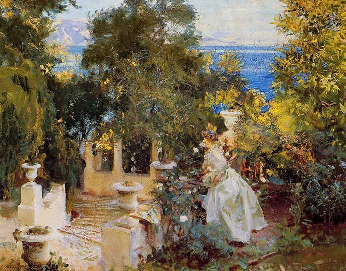 John Singer Sargent, A Garden in Corfu, 1909