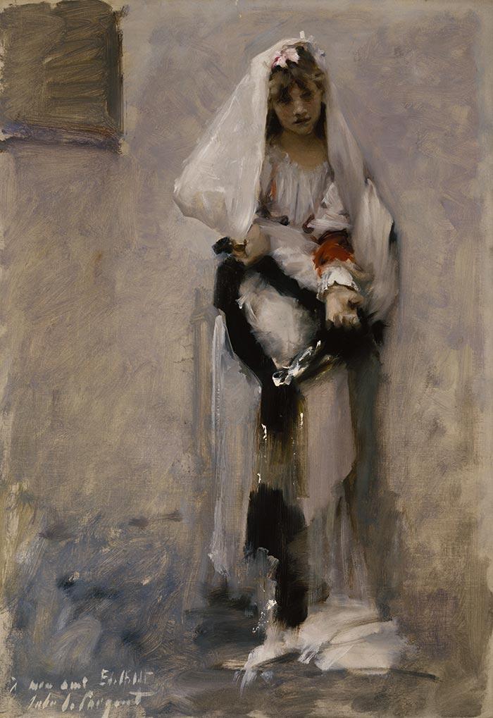 John Singer Sargent, A Parisian Beggar Girl, 1877