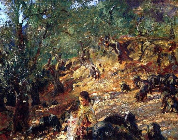 John Singer Sargent, Blue Pigs on Mallorca, 1908