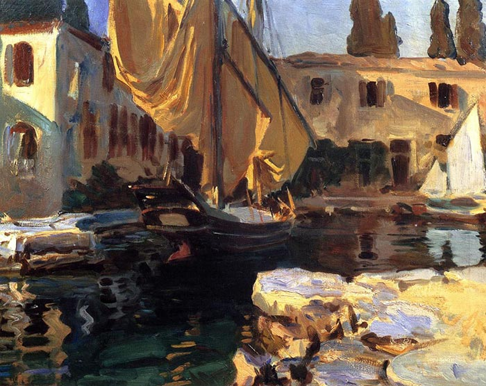 John Singer Sargent, Boat With the Golden Sail, 1913