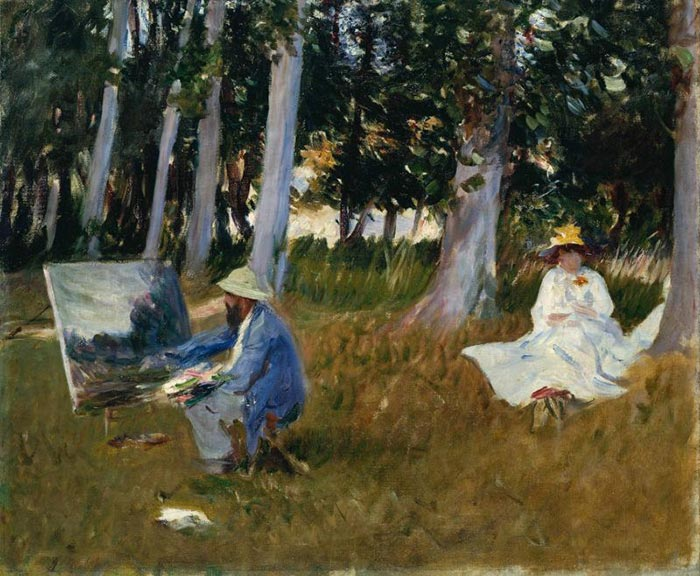 John Singer Sargent, Claude Monet Painting at the Edge of the Forest, 1884