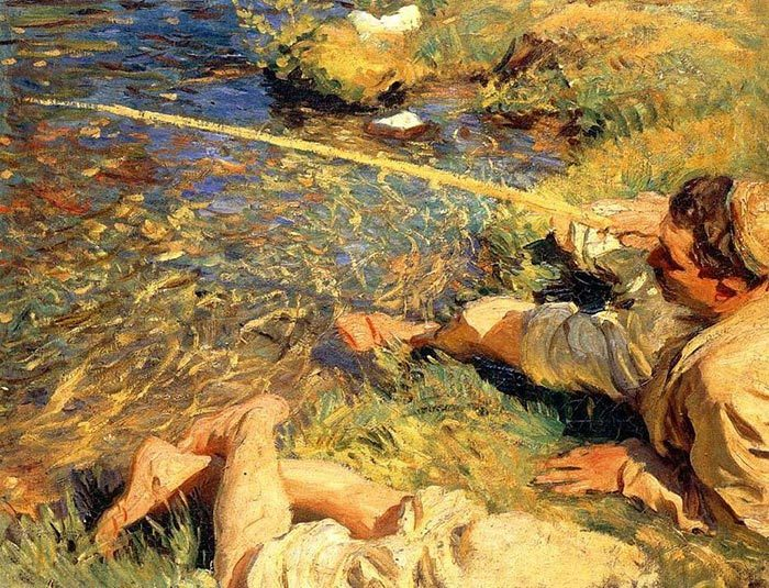 John Singer Sargent, Fisherman in Valle dAosta, 1907