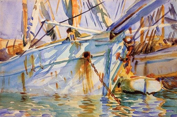 John Singer Sargent, In a Levantine Port, 1906