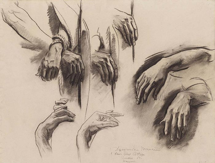 John Singer Sargent, Sketch for The Sorrowful Mysteries, 1916