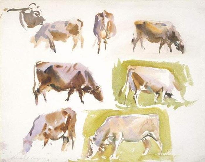 John Singer Sargent, Sketch of Cows, 1924