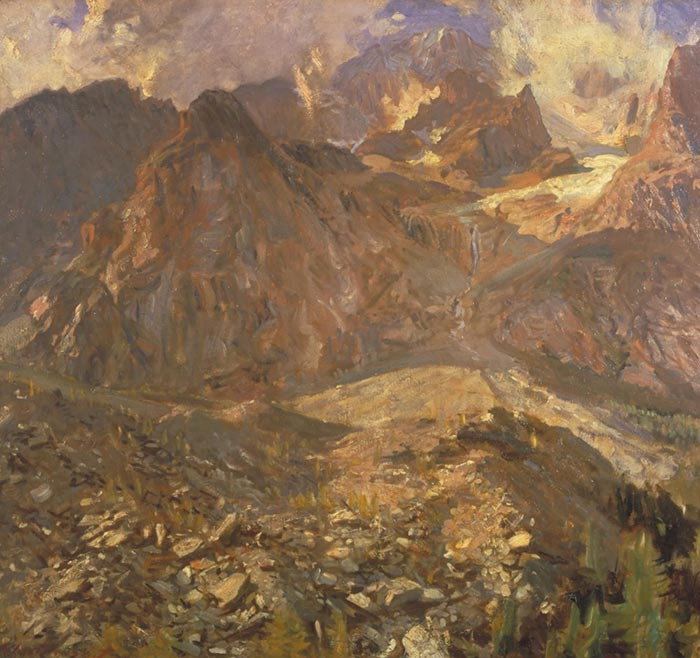 John Singer Sargent, The Val d'Aosta. Italy, 1910