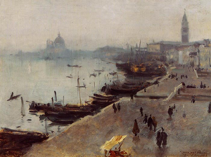 John Singer Sargent, Venice in the Fog, 1882