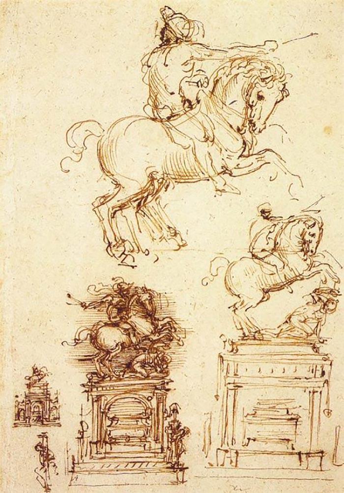 Leonardo da Vinci, Study for the Trivulzio Equestrian Monument