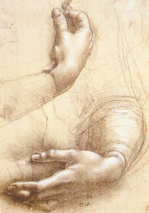 Leonardo da Vinci, Study of Hands