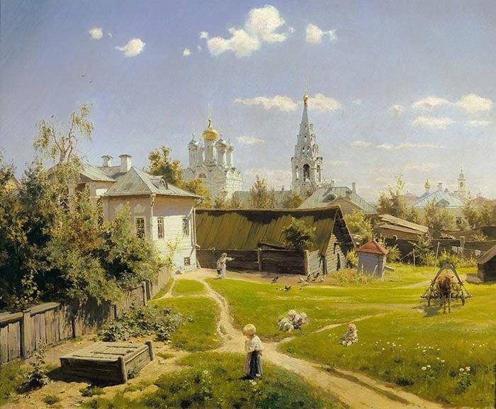 Vasily Dmitrievich Polenov, Moscow Courtyard,1878