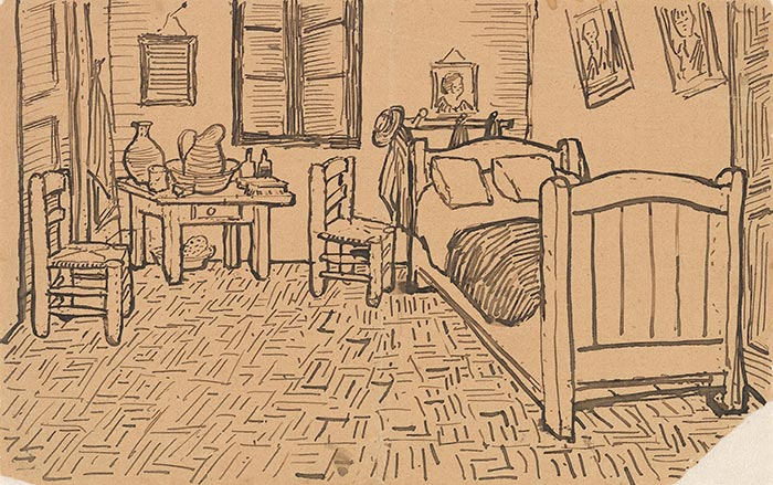 Vincent van Gogh, Sketch Sent to His Brother Theo